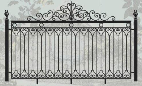 5, Заборы, ограды эскиз ковки