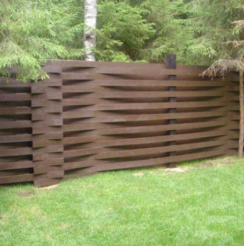 Варианты конструкций оград на