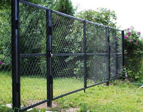 Установлинный секционный забор